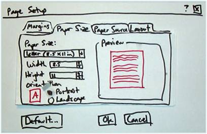 Paper Prototyping: easy to create a wireframe