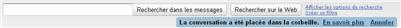 Un retour en arrière hautement facilité sur gmail