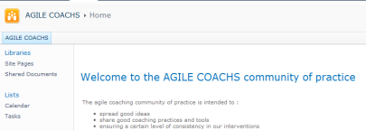 Agile coaching Community of Practice