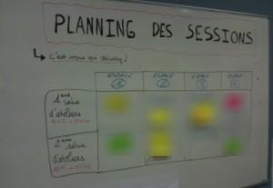 Un planning livré en 30 min - 4 sessions en parallèle: Formidable !!