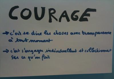 Courage: une valeur Agile