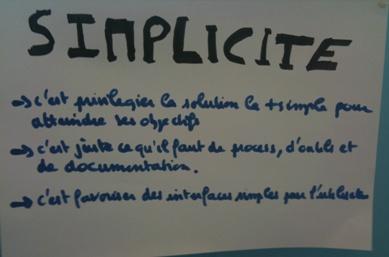Valeur Agile: la simplicité; ça se joue à diffèrents niveaux!