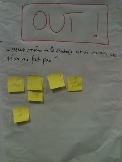 In / Out en Workshop Vision. Voilà ce que nous ne ferons pas !