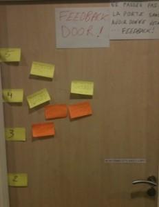 Feedback Door lors d'un dernier training