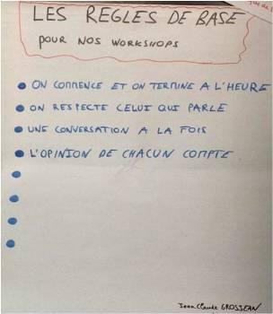 Quelques Règles de base de facilitation pré-remplies