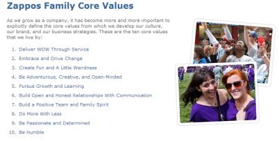 zappos-valeurs