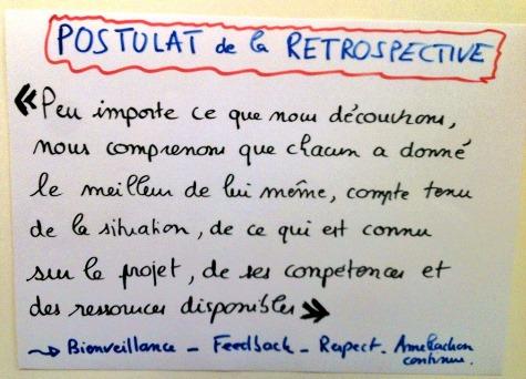 Postulat retrospective agile