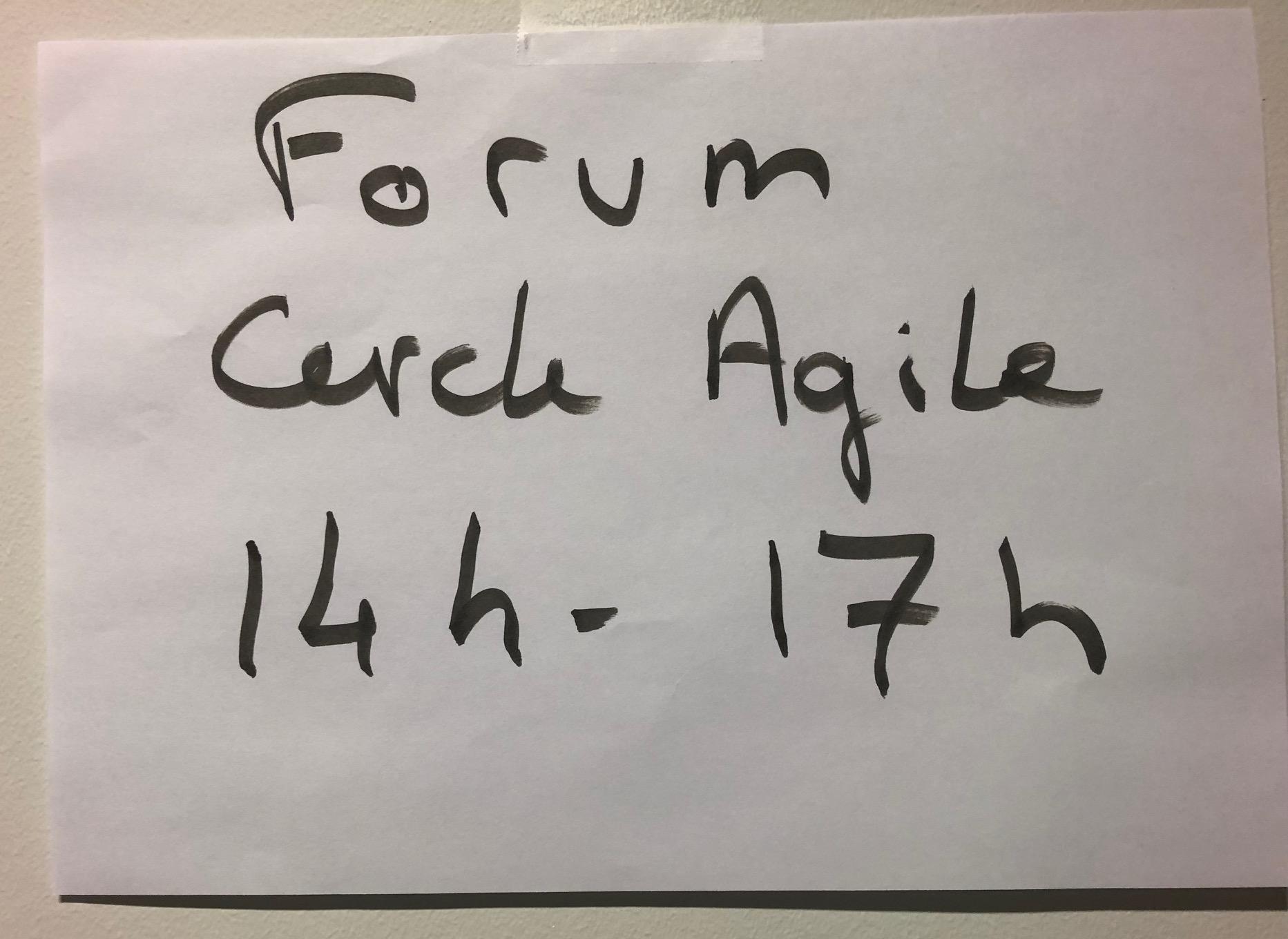 Forum Cercle Agile