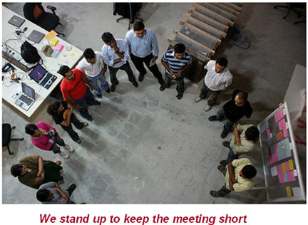 We stand up to keep the meeting short photo: Karthik Chandrasekarial