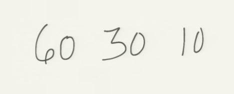 60-30-10 projet